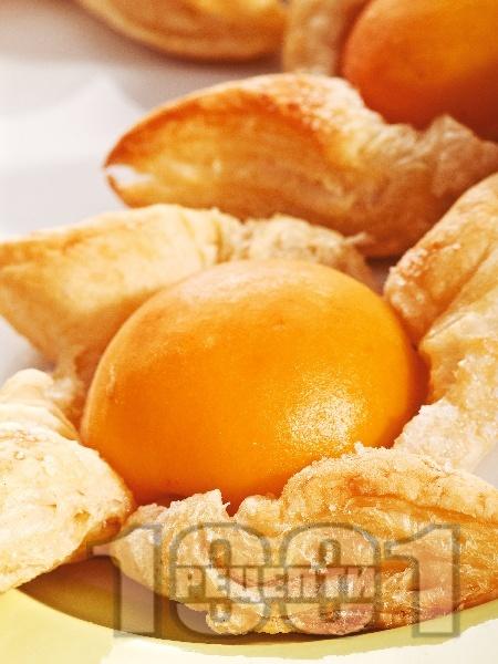 Кайсиеви слънчица с бутер тесто - снимка на рецептата